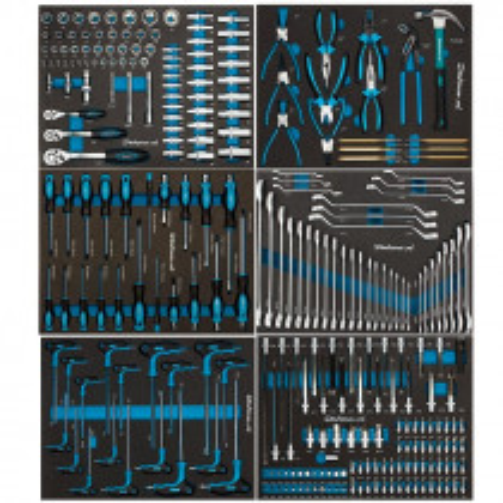 273-teiliges Werkzeugset im Schaumstoffmodul - 6 Schubladen