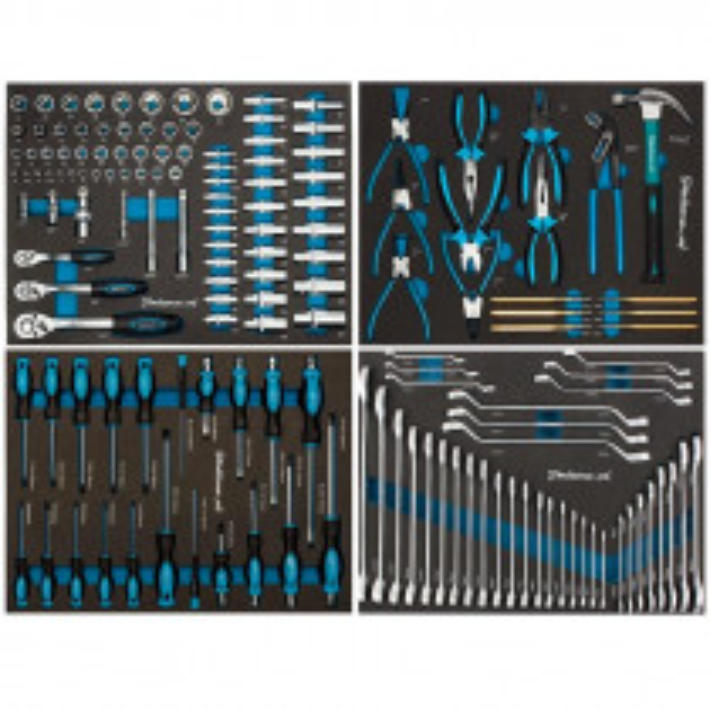153-teiliges Werkzeugset im Schaumstoffmodul - 4 Schubladen