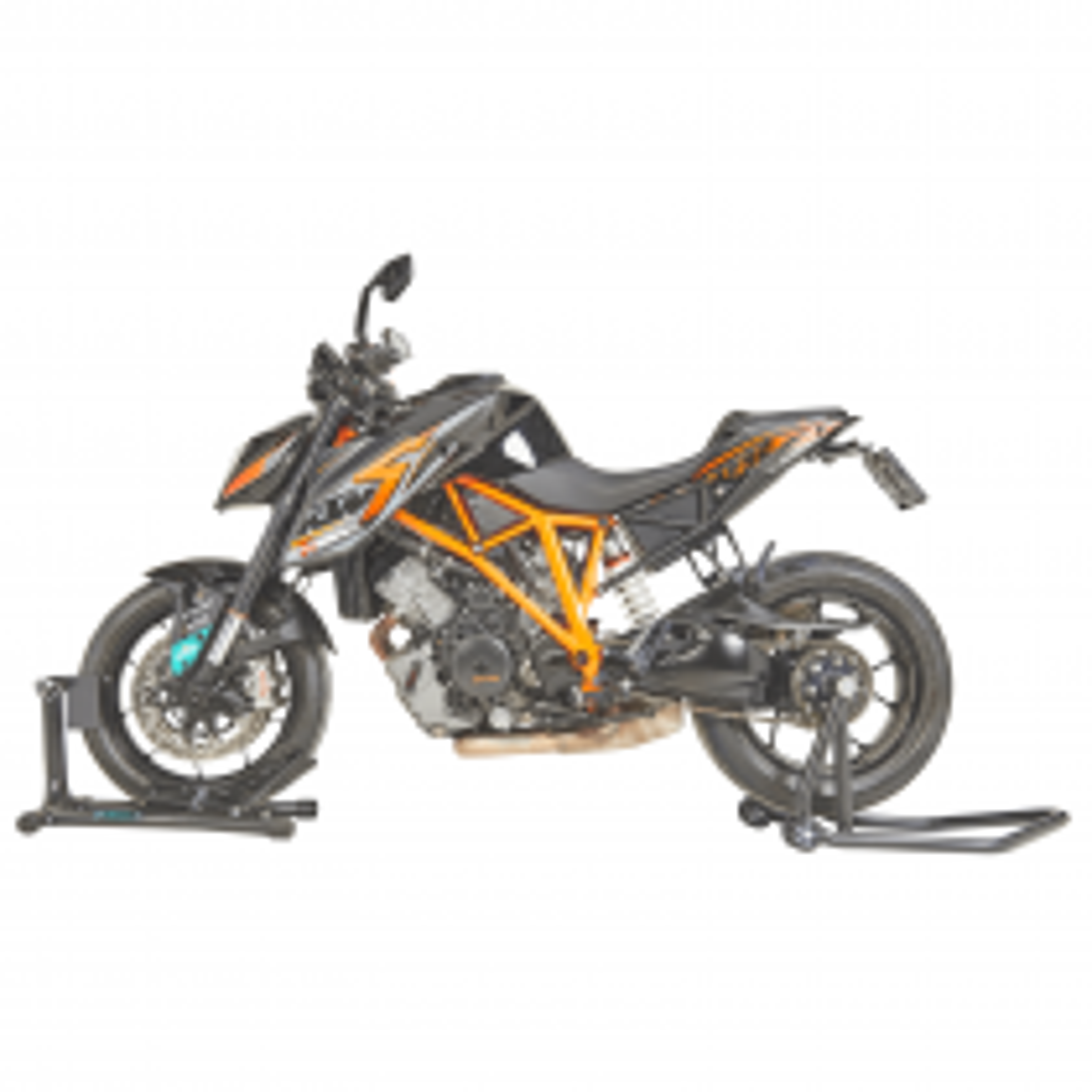 Einarm Motorrad Montageständer Ducati (21,7 & 25,7mm) + Motorradwippe