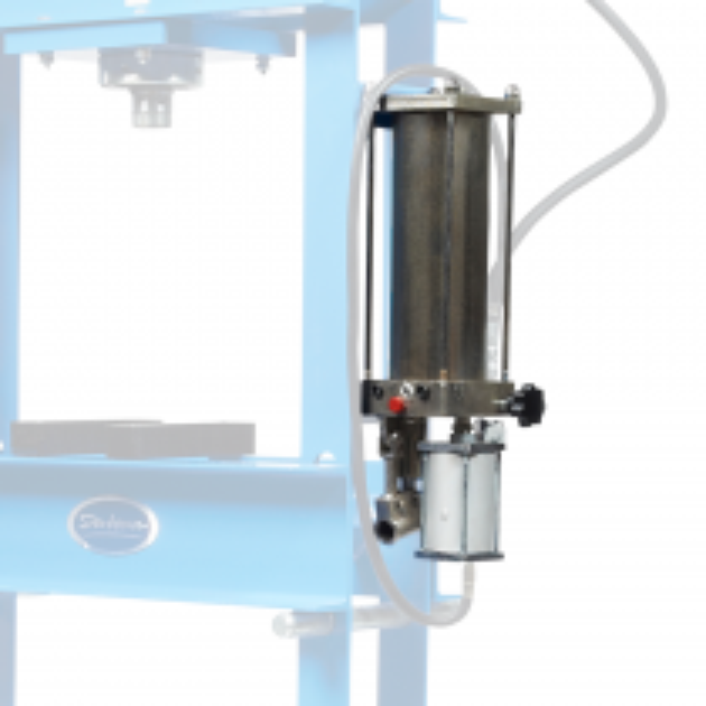 Hydropneumatische Pumpe für die 30t Werkstattpresse