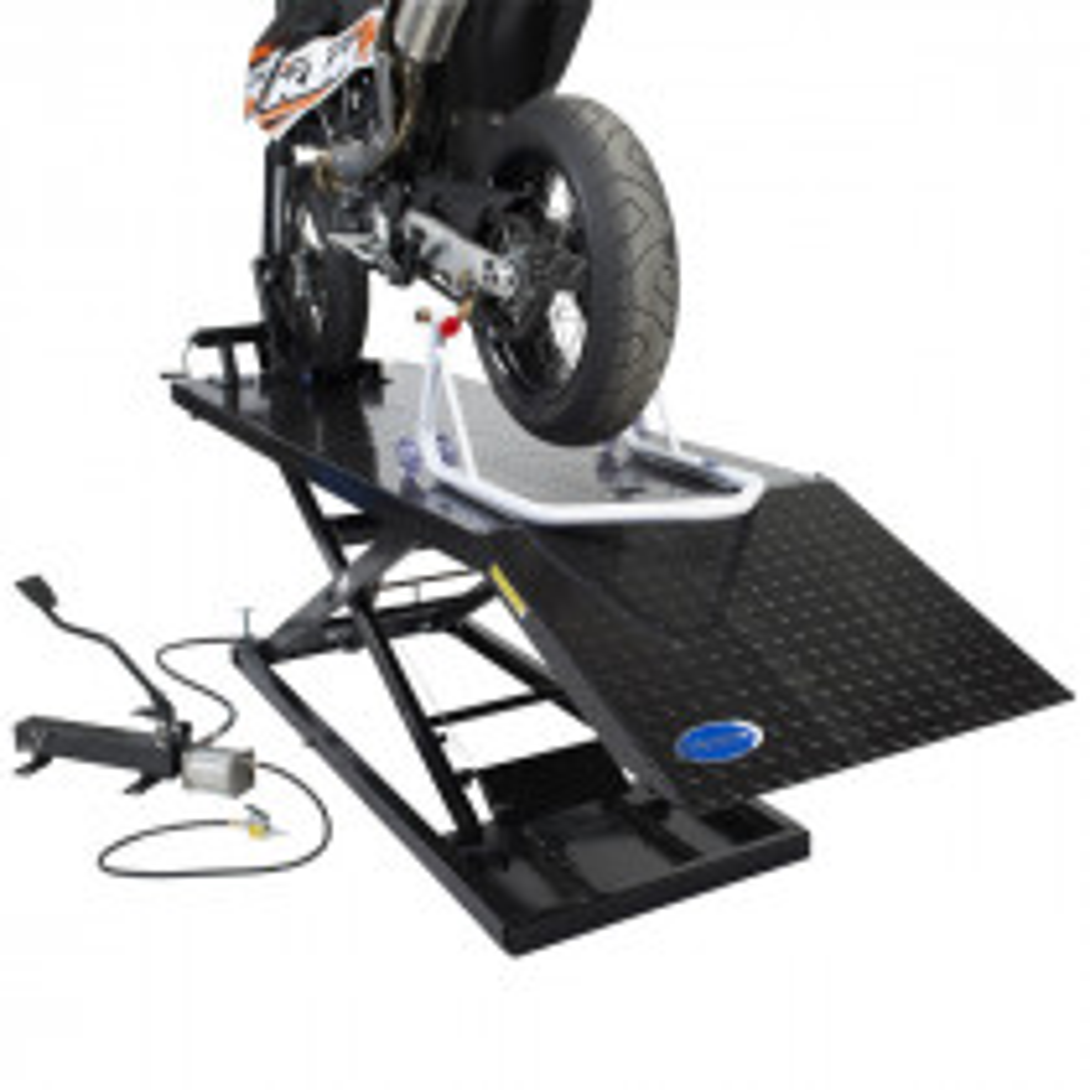 Hydropneumatische Motorrad Scherenhebebühne 700 kg - Schwarz