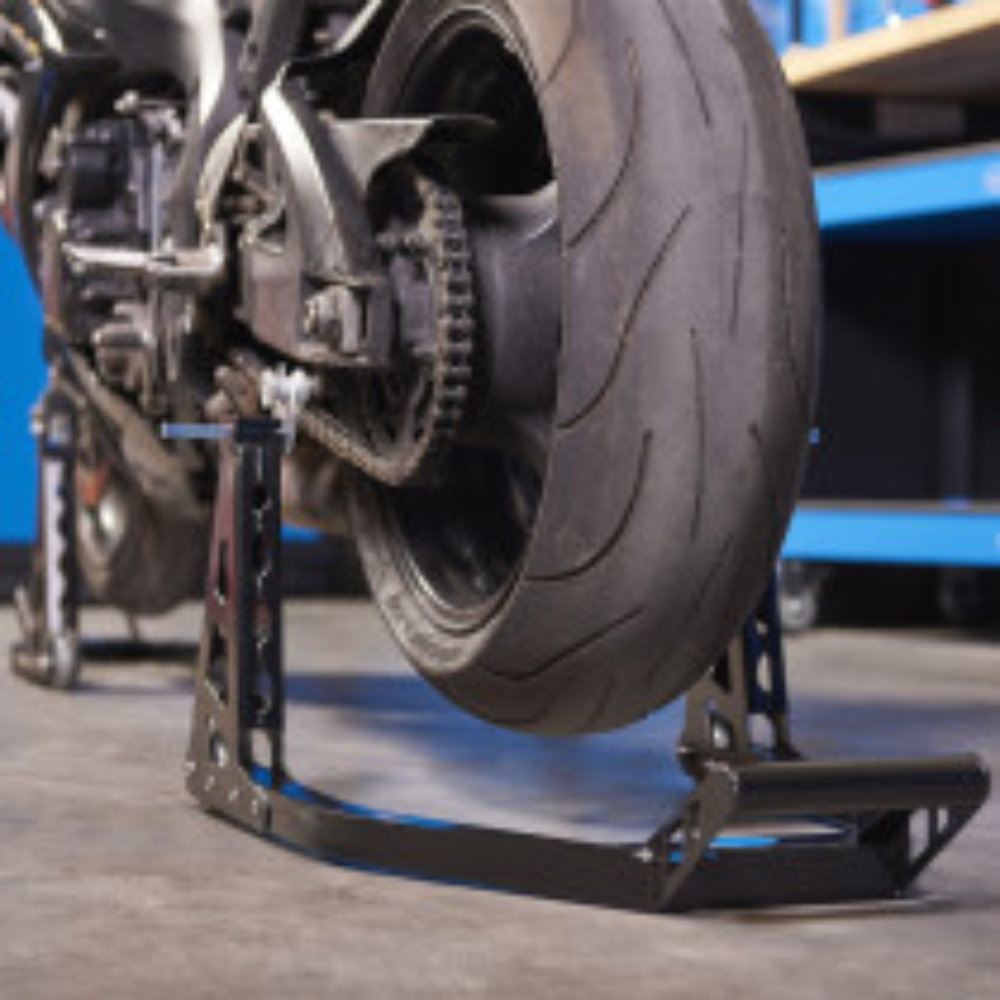 Motorrad Montageständer MotoGP (Vorderrad + Hinterrad) - Mattschwarz