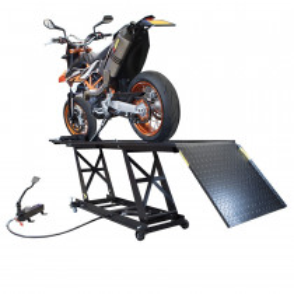 Hydropneumatische Motorradhebebühne - Schwarz