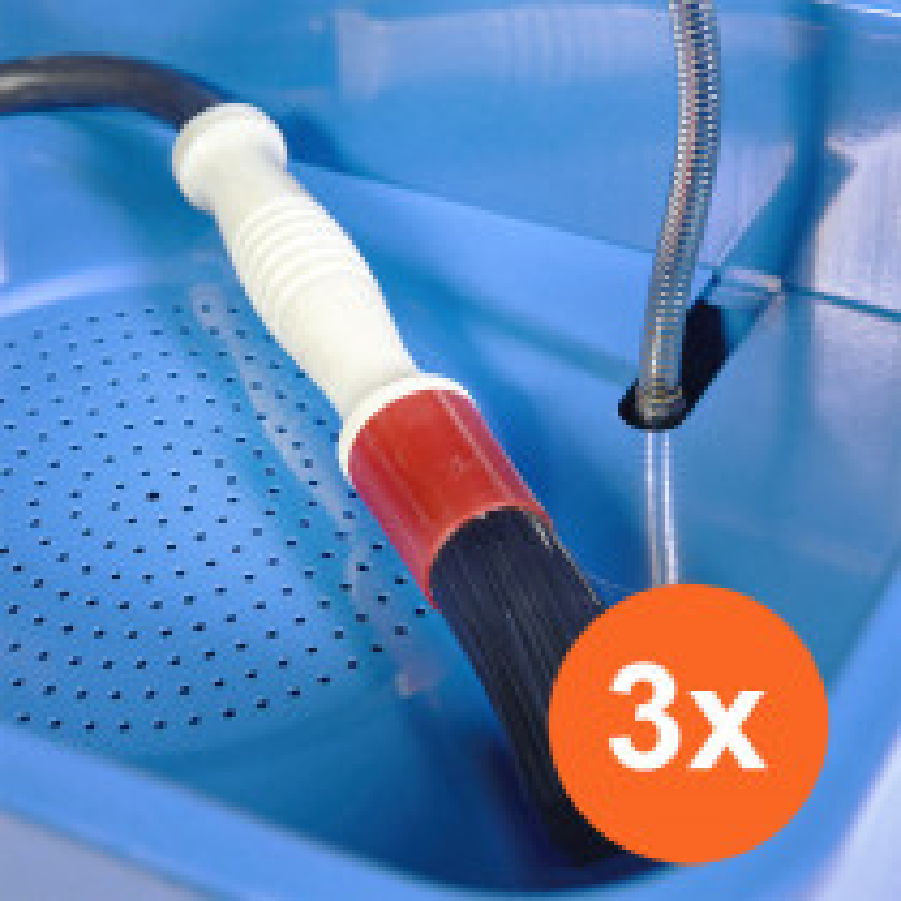 Reinigungsbürste mit Schlauch - 3er Set