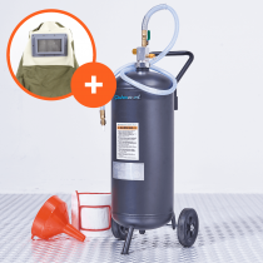 Mobiles Soda-Strahlgerät - 26 Liter + Schutzmaske (Deluxe)