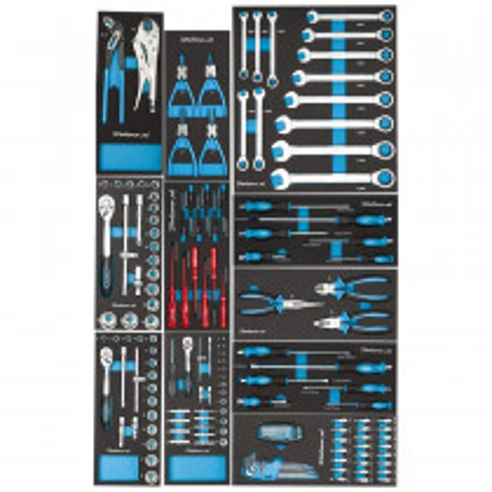 Werkzeugset für 4 Schubladen - 155-teilig (Kraft Royal)