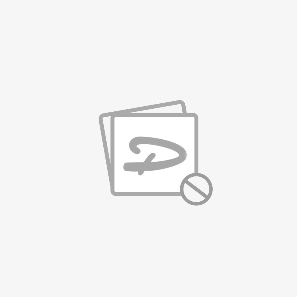 Werkbank PRO in Blau mit Arbeitsplatte aus Eiche und 18 Schubladen - 200 cm