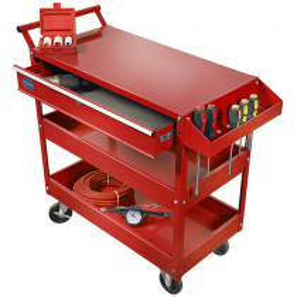Werkstattrollwagen mit Schublade - Rot