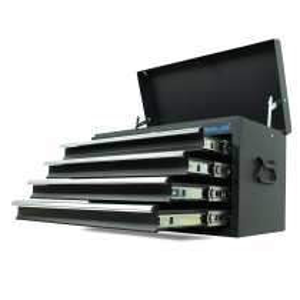 Werkzeugkiste mit 4 Schubladen - mattschwarz