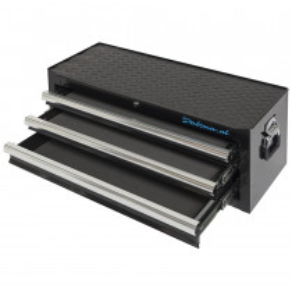 Werkzeugkiste mit 3 Schubladen - Matt schwarz