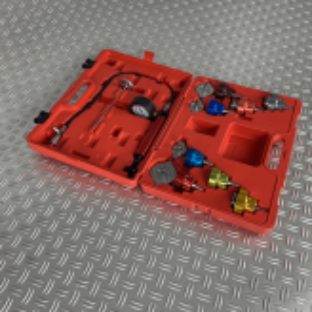 Kühlsystem Prüfgerät mit 12 Adaptern